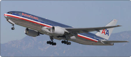 Boeing 777 aircraft - American airlines plane