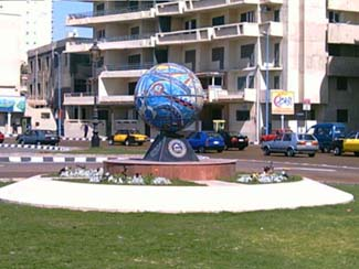 Artistic touch of a square in Alexandria