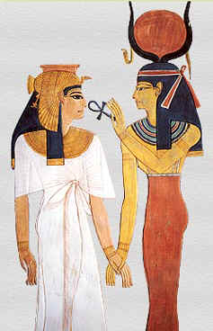 Nefertari receives life from Isis