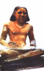 Egyptian scribe statue