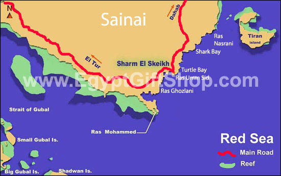 Sharm el Sheikh map