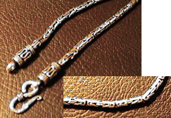 Indian style silver chain